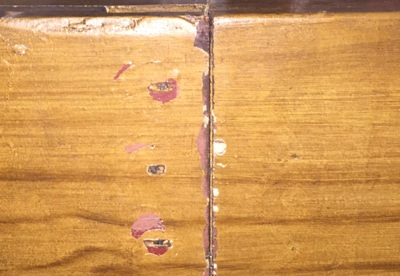 Decorative Wooden pipe damage